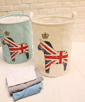 New Style Fresh British Style Cotton And Linen Laundry Baske...