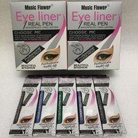 Música Flor Eyeliner Eye líquido liner REAIS PEN Eye liner de longa duração à prova de água de alta qualidade lápis delineador DHL transporte livre
