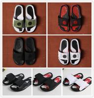 2019 nova chegada hidro 9 preto branco verde vermelho borracha homens sandálias boa qualidade verão chinelo jumpman sapatos masculinos
