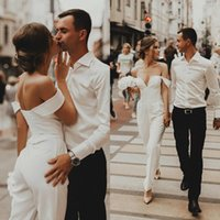 Beach Jumpsuits Wedding Dresses Off The Shoulder Country Boh...