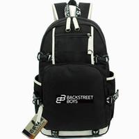 Teenpop ظهره باك ستريت الأولاد يوم حزمة روك r b الموسيقى مدرسة حقيبة كمبيوتر packsack الجودة حقيبة الرياضة المدرسية في daypack