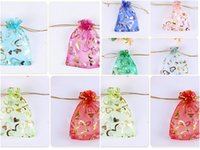 HEART PATTERN 7*9cm Jewelry Bags MIXED Organza Jewelry Weddi...