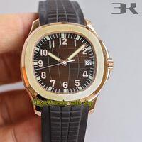 3KF Сильнейшая версия 5167R-001 Коричневый циферблат REAL CAL.324C Автоматический механический 5167A Мужские часы Sapphire Steel Case Sport Watch Eternity