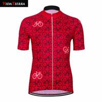 Hot 3 Style Trajes Ciclismo Jersey 2019 Vidatierra Hombre Tops Azul Rojo Negro Black Alfill Jersey Outdoor Sports Pro Equipo Clásico Clásico