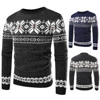 와 남성 스웨터 캐주얼 스타일 크루 넥 줄무늬 Knitewear 2 개 색상 슬림핏 남성 점퍼 아시아 크기 M-XL