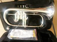 المهنية bach flugelhorns الفضة مطلي ب شقة bb المهنية البوق الأعلى النحاس الآلات الموسيقية trompete القرن الشحن