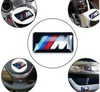 BMW M M 2 M6 F32 E53 E90 F10 x3 에폭시 자동차 로고 플라스틱 드롭 스티커 자동차 스타일링을위한 자동 자동차 스티커