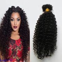 몽골어 곱슬 곱슬 벌크 머리카락 1 번들 100G의 머리카락을 번들에 대한 첨부 파일 없음