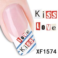 Nail Sticker Heart watermark sticker direct nail stickers na...