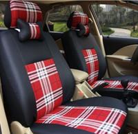 أغطية مقاعد الكتان القماش السيارة للمقعد فولفو V60 التصميم السيارات تغطية مجموعة الحرير الثلج اكسسوارات حامي