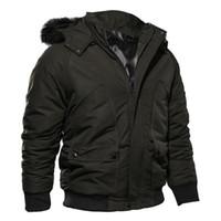 Abrigo de invierno para hombre con capucha Abrigo Parkas Cazadora corta para hombre Cuello de piel gruesa Longitud corta Chaqueta Diseñador Tops