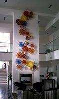 Китайской антикварного выдувного стекло стена офиса Murano Art Glass украшение стены Тарелка цена завод ручное выдувное стекло стена искусство