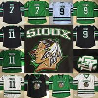 North Dakota Kämpfe Sioux Hockey Jerseys 9 Jonathan Toews # 7 TJ Oshie # 11 Zach Parise Fighting Sioux Dakota College Hockey Jersey