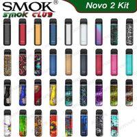 SMOK NOVO 2 Kit Dessine-activé Pod système tout-en-un kit de démarrage Buil-in 800mAh avec 2ml Mesh 1.0ohm DC 1.4ohm MTL Cosses Cartouches