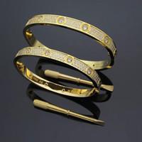 Braccialetti di Braccialetti di Amore della vite di Carter Braccialetti Braccialetti in acciaio inossidabile 316L Braccialetto di pietra del braccialetto di pietra del braccialetto del braccialetto del braccialetto di amore con la scatola originale superiore