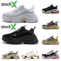 2020 Stock X triple s designer shoes sneakers for men black ...