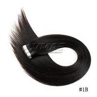Brasileiro Cor Natural 16 a 26 polegadas 100g pele Original trama fita em linha reta Raw Virgin extensão do cabelo humano In