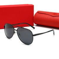 Cartier 2106 Nuovi occhiali da sole fashion designer goggles rimovibile telaio mascheramento ornamentale occhiali UV400 dell'obiettivo di protezione di alta qualità semplice oz