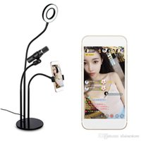 3 IN 1 LED Selfie Ring Light with Mobile Phone Clip Holder a...