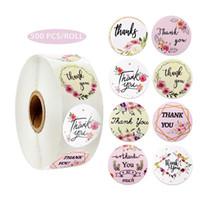 Floral ringraziamento Adesivi Autoadesivi Sigillo Etichetta Etichetta Sticker Accessorio Matrimonio Tag Busta Busta Busta Business Box Business Box Regalo Invito Carta Decor