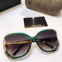 패키지와 함께 정통 4375 럭셔리 명품 선글라스를 들어 여성과 여자 접이식 스타일 전체 프레임 최고 품질 UV400 안경 가자