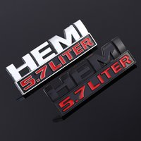 Accessoires extérieurs Autoétiquettes ABS 3D autocollant de voiture 5.7 LITRES HEMI Emblem Badge pour Autocollants Plaque d'identification Jeep Dodge Challenger 1500 RAM 2500
