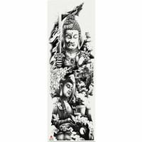Autoadesivo del tatuaggio temporaneo del modello della statua di Buddha della 1 parte con l'autoadesivo grande del tatuaggio del manicotto di body art del braccio grande