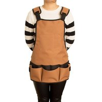 Multi- function Apron Cooking Bbq Chef Aprons Solid Colors Wo...
