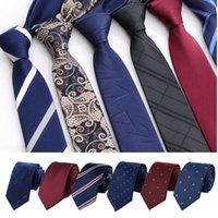 6cm Classique Slim Hommes d'affaires Liens Mode Cravate Mode formel Jacquard Tissu multi-Styling Fashion Disponible Affaires Cravates