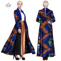2019 Robes Femmes africaines pour Bazin Imprimer Cire Riche longue soirée Robes Veste Dashiki Vêtements africains Slim WY903