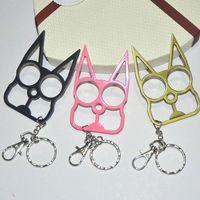 Keychain de chat mignon pour les filles en alliage Fashion Bag Porte-clés Charm Porte-clés femmes Autodéfense main Fermoir
