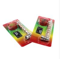 금속 흡연 파이프와 그라인더 메쉬 스크린 비드 담배 손에 담배 파이프 설정 14cm 길이 액세서리 버블 볼 도구