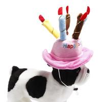 10pcs Nouveau chien de fête d'anniversaire mignon Chapeau CHAPEAUX anniversaire de mode de chat de chien de gâteau d'anniversaire de chapeau