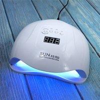 العرض LCD SUNX5PLUS 80W الأظافر مجفف ضوء الشمس مصباح مانيكير الذكية لجميع UV LED جل طلاء الأظافر أداة CY200512