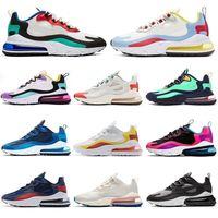 Nike air max 270 react airmax 270 جديد وسادة 27 احذية رياضية مصمم رجالي الاحذية CNY قوس قزح الكعب مدرب نجم الطريق BHM الحديد المرأة حذاء رياضة حجم 36-45