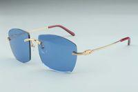 최신 A8300819 선글라스, 금속 사원 안경, 유행 남성과 여성의 무한한 관용 조각 안경 선글라스