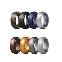 8pcs 8mm Wide Neutral nuova combinazione di 8 colori di anelli in silicone ad altezza d'arco Sport all'aria aperta Lord Of The Rings