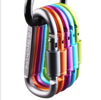 Aluminum Alloy D- ring Locking Carabiner Screw Lock Hanging H...