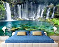 de beaux paysages fonds d'écran vert simple paysage magnifique mur de fond cascade fonds d'écran de salon moderne