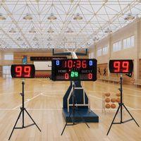 GANXIN LED Gast + Home Digital Basketball Anzeigetafel für Score, Periode, Zeit, Foul und 24s Uhren Schuss