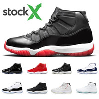 Bred 11 mens basketball shoes 11s concord Platinum Tint Cap ...