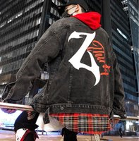 Hombres únicos con paneles Denim algodón negro Jean chaqueta abrigos Hip Hop Casual Denim chaquetas diseñador moda masculina Streetwear