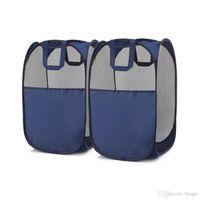 الجملة المنبثقة غسل الملابس الغسيل سلة حقيبة طوي شبكة تخزين لعبة حاوية منظمة تخزين المنزل DH1225 المنزلية