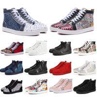 2020 новые красные днища обуви для женщин людей ботинок конструктора шипа замши платформа красной нижних мод роскоши случайного sneakers36-47