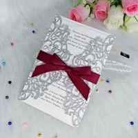 luxury gold invitations transparent envelope floral laser cut rh dhgate com