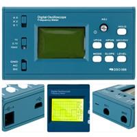 FREESHIPPING LCD تخزين رقمي / التردد متر DIY كيت مع واجهة المهنية BNC التحقيق USB DSO 20MSa / ثانية 3MHz