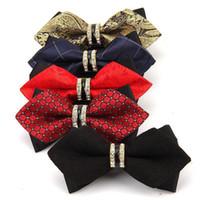 위수 절묘한 라인 석 남성 드레스 웨딩 나비 넥타이 패션 나비 매듭 나비 넥타이 남성 정장 상업 액세서리 선물 넥타이