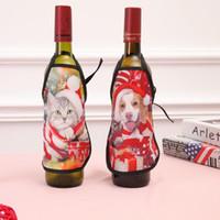 Mini Tablier de Noël Cartoon Bouteille de vin couverture vêtements cas spécial bar bouteille KTV cas de Noël Décorations LXL381L livraison gratuite