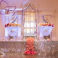 """80 cm (31 """") Oval Şekil Kristal Akrilik Boncuklu Düğün Centerpieces çiçek düğün masa parti dekorasyon için masa dekor standı"""