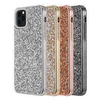 Diamond Glitter Bling Hybrid 2 in 1 TPU PC Case For iPhone 11 Pro Max XR XS Max 8 7 6 6S Samsung S8 S9 S10 5G Plus S10E Note 9 10 10+